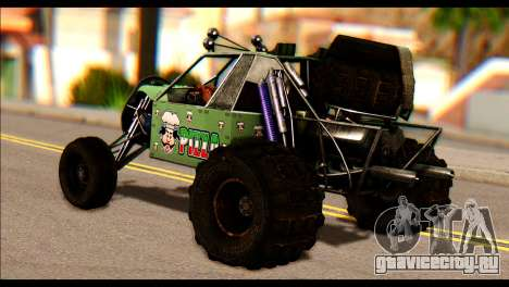 Buggy Fireball from Fireburst PJ для GTA San Andreas вид слева
