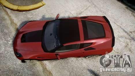 Chevrolet Corvette Z06 2015 TirePi2 для GTA 4 вид справа
