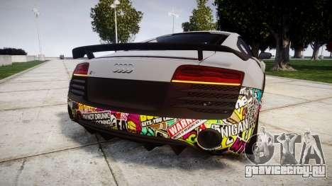 Audi R8 LMX 2015 [EPM] Sticker Bomb для GTA 4 вид сзади слева