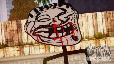 Skin de Meme Troll Golpiado для GTA San Andreas третий скриншот