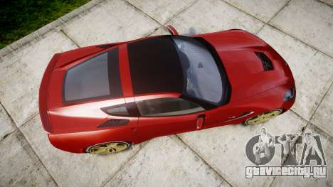 Chevrolet Corvette C7 Stingray 2014 v2.0 TireBFG для GTA 4 вид справа