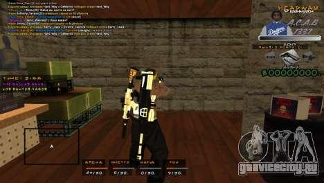 C- HUD A.C.A.B для GTA San Andreas второй скриншот