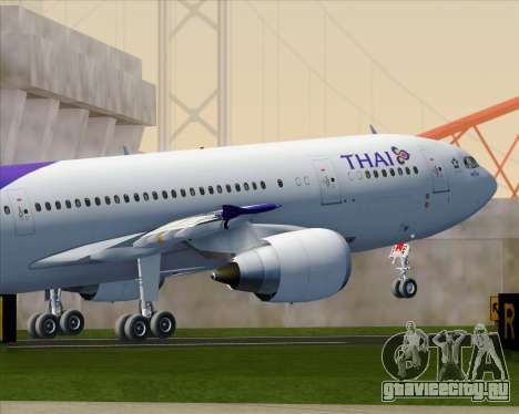 Airbus A300-600 Thai Airways International для GTA San Andreas салон
