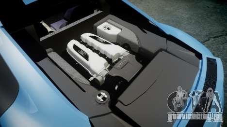 Audi R8 V10 Plus 2013 Vossen VVS CV3 для GTA 4 вид сбоку
