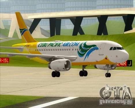 Airbus A319-100 Cebu Pacific Air для GTA San Andreas салон