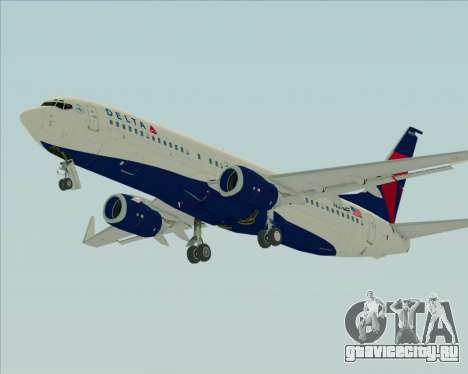 Boeing 737-800 Delta Airlines для GTA San Andreas вид снизу