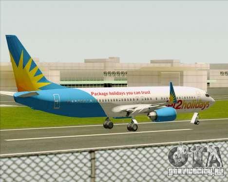 Boeing 737-800 Jet2Holidays для GTA San Andreas вид снизу