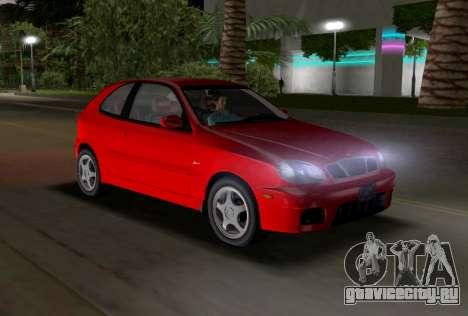 Daewoo Lanos Sport 2001 г. США для GTA Vice City вид изнутри