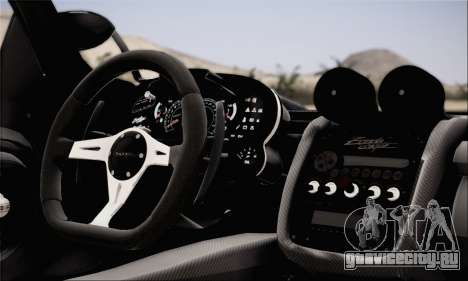 Pagani Zonda 760RS для GTA San Andreas вид сзади слева