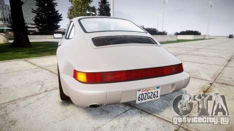 Porsche 911 (964) Coupe для GTA 4 вид сзади слева