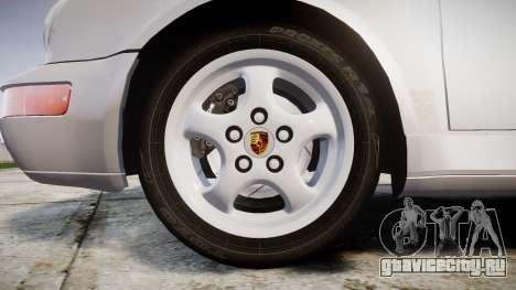 Porsche 911 (964) Coupe для GTA 4 вид сзади