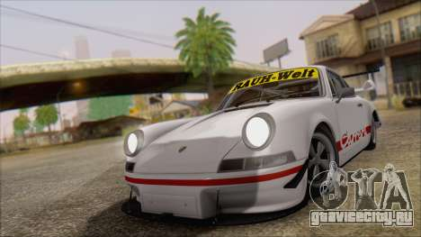 Porsche 911 Carrera 1973 Tunable KIT C для GTA San Andreas вид сзади слева