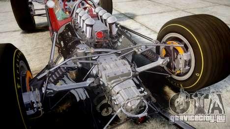 Lotus 49 1967 red для GTA 4 вид изнутри