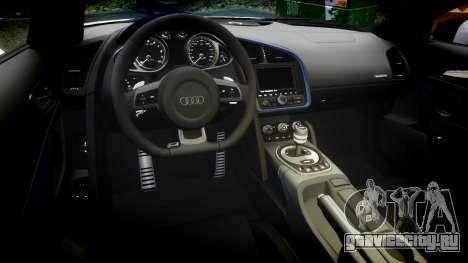 Audi R8 LMX 2015 [EPM] Sticker Bomb для GTA 4 вид изнутри