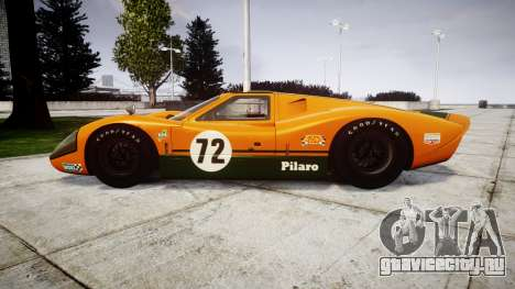 Ford GT40 Mark IV 1967 PJ Mudino 72 для GTA 4 вид слева