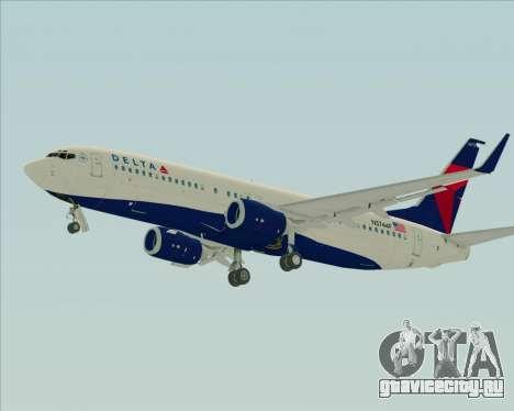 Boeing 737-800 Delta Airlines для GTA San Andreas вид сзади слева