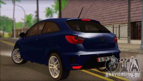 Seat Ibiza Cupra 2010 для GTA San Andreas вид слева