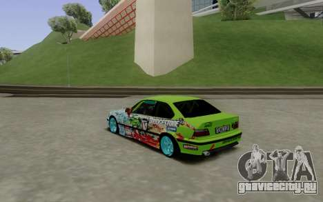 BMW E36 Bridgstone для GTA San Andreas вид сзади слева