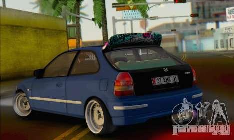 Honda Civic V Type EMR Edition для GTA San Andreas вид слева