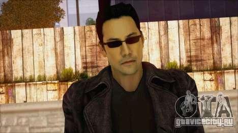 Neo Matrix Skin для GTA San Andreas третий скриншот