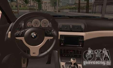 BMW M3 E46 StanceWork для GTA San Andreas вид сзади слева