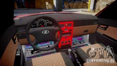 ВАЗ-2172 Dag style для GTA 4 вид сзади