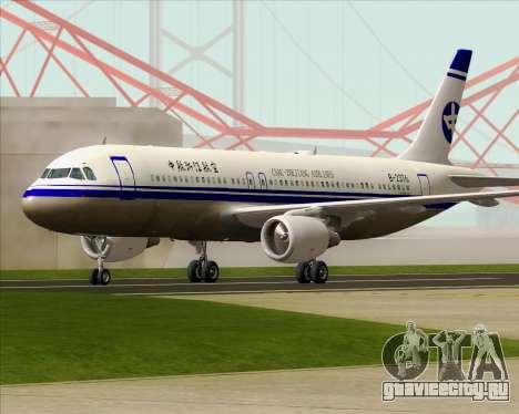 Airbus A320-200 CNAC-Zhejiang Airlines для GTA San Andreas вид сверху