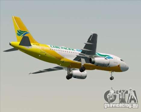Airbus A319-100 Cebu Pacific Air для GTA San Andreas вид снизу