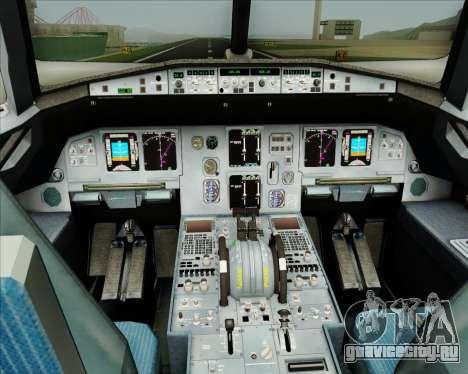 Airbus A320-200 CNAC-Zhejiang Airlines для GTA San Andreas салон