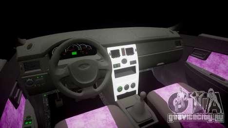 ВАЗ-2170 Lada Priora Quality v2.0 для GTA 4 вид изнутри