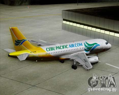 Airbus A319-100 Cebu Pacific Air для GTA San Andreas колёса