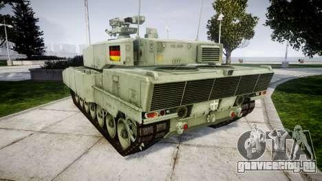 Leopard 2A7 DE Green для GTA 4 вид сзади слева