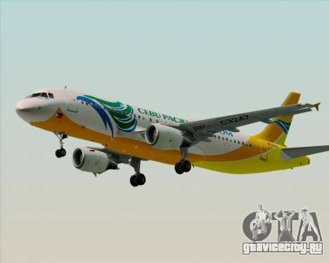 Airbus A320-200 Cebu Pacific Air для GTA San Andreas вид слева