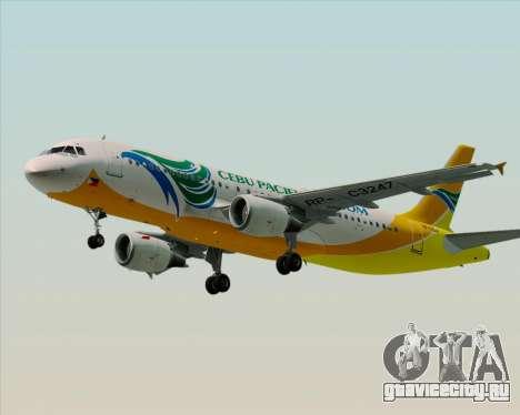 Airbus A320-200 Cebu Pacific Air для GTA San Andreas вид слева