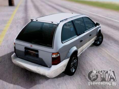 GTA V Minivan для GTA San Andreas вид слева
