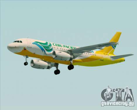 Airbus A319-100 Cebu Pacific Air для GTA San Andreas двигатель