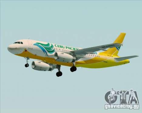 Airbus A319-100 Cebu Pacific Air для GTA San Andreas двигатель
