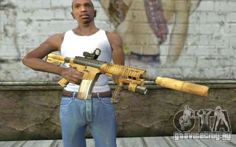 M4A1 Sopmod для GTA San Andreas третий скриншот