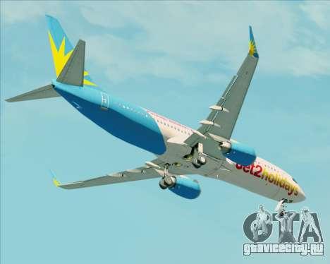 Boeing 737-800 Jet2Holidays для GTA San Andreas вид сверху