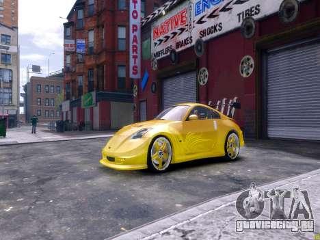 Nissan 350Z Fast And Furious Tokyo Drift для GTA 4 вид слева