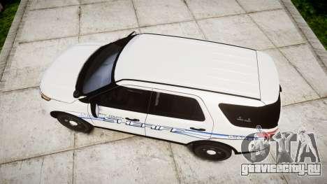 Ford Explorer 2013 [ELS] Liberty County Sheriff для GTA 4 вид справа
