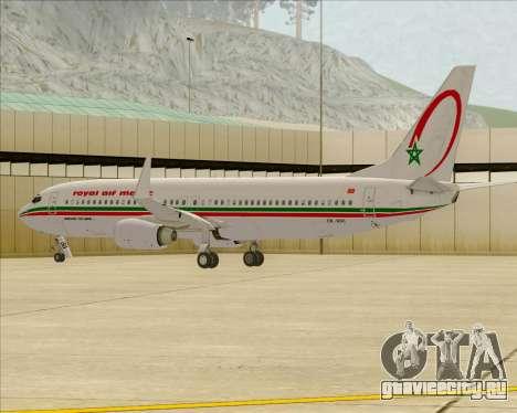 Boeing 737-8B6 Royal Air Maroc (RAM) для GTA San Andreas колёса