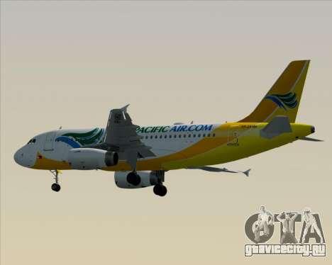 Airbus A319-100 Cebu Pacific Air для GTA San Andreas вид сзади