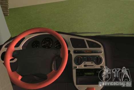 Daewoo Lanos Sport 2001 г. США для GTA Vice City вид снизу