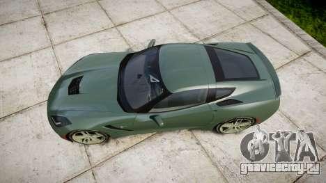 Chevrolet Corvette C7 Stingray 2014 v2.0 TirePi2 для GTA 4 вид справа