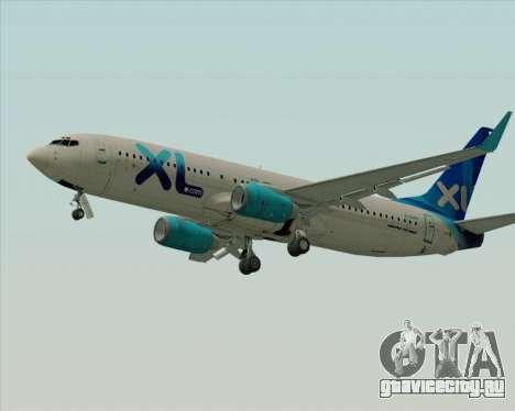 Boeing 737-800 XL Airways для GTA San Andreas вид сзади слева