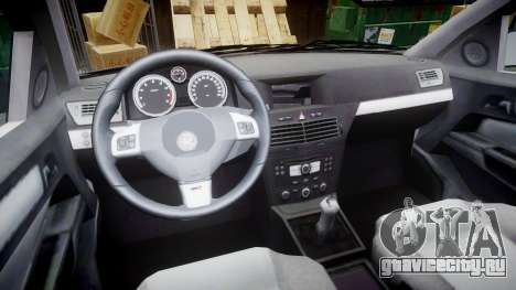 Vauxhall Astra 2010 Metropolitan Police [ELS] для GTA 4 вид сзади
