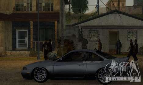 Nissan Silvia S14 Zenki Drift для GTA San Andreas вид сзади слева