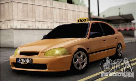 Honda Civic Fake Taxi для GTA San Andreas