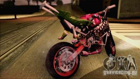 Kawasaki Ninja Zx6R v3 для GTA San Andreas вид сзади слева
